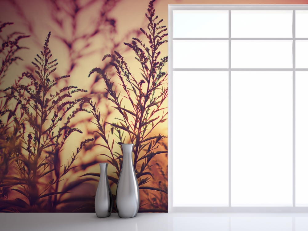 extra large prints make a gorgeous accent wall