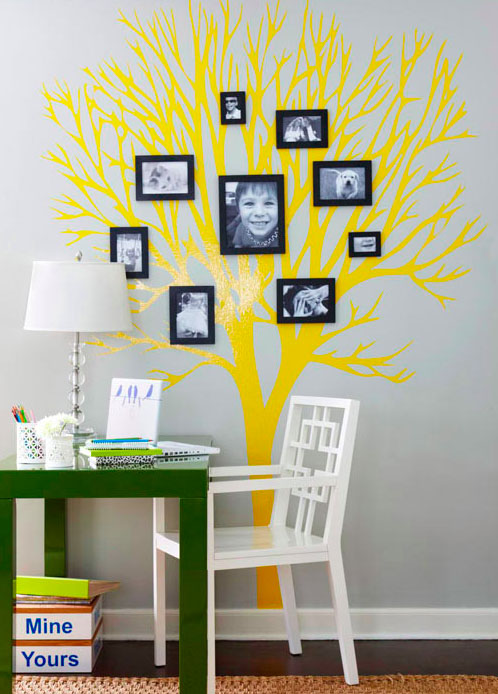 beautiful HD images - personal family photos shaped into a tree