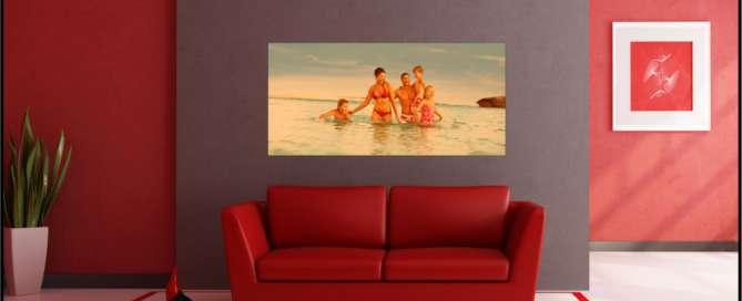 Red professional color printing add passion to any room