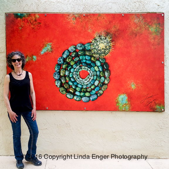 """Emergent"" on white Dibond 