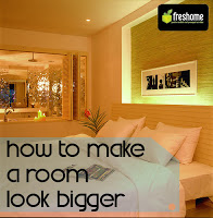 Using custom wall designs is a great way to make a room look bigger