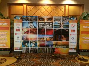 Display Board at Photoshop World 2016