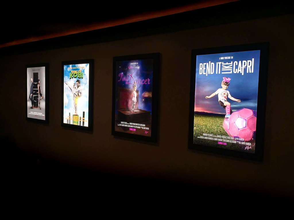 Light box prints for a movie theatre