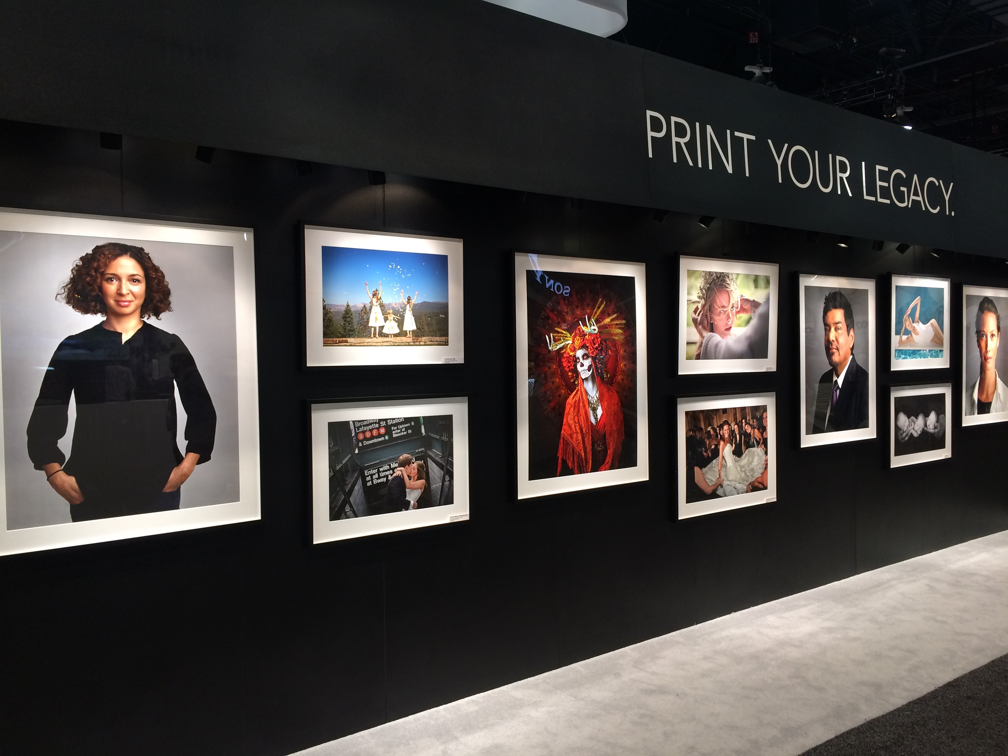 Professional Prints on display at the Wedding and Portrait Photography Expo in Las Vegas 2017