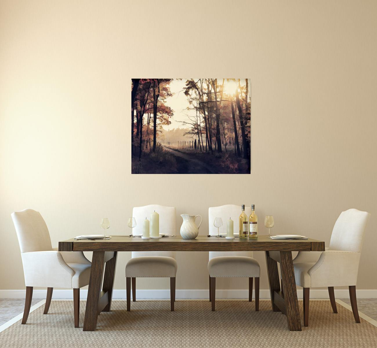 ArtBoja Custom Wall Decor Prints in the Dining Room