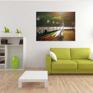 ArtBoja Green Living Room showcasing Custom Art Decor Prints