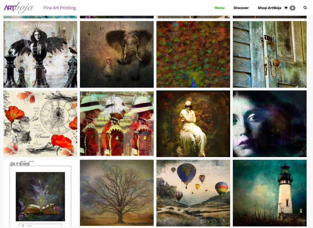 ArtBoja Website Custom Art Prints