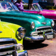 Technicolor Cars of Cuba custom fine art prints from ArtBoja