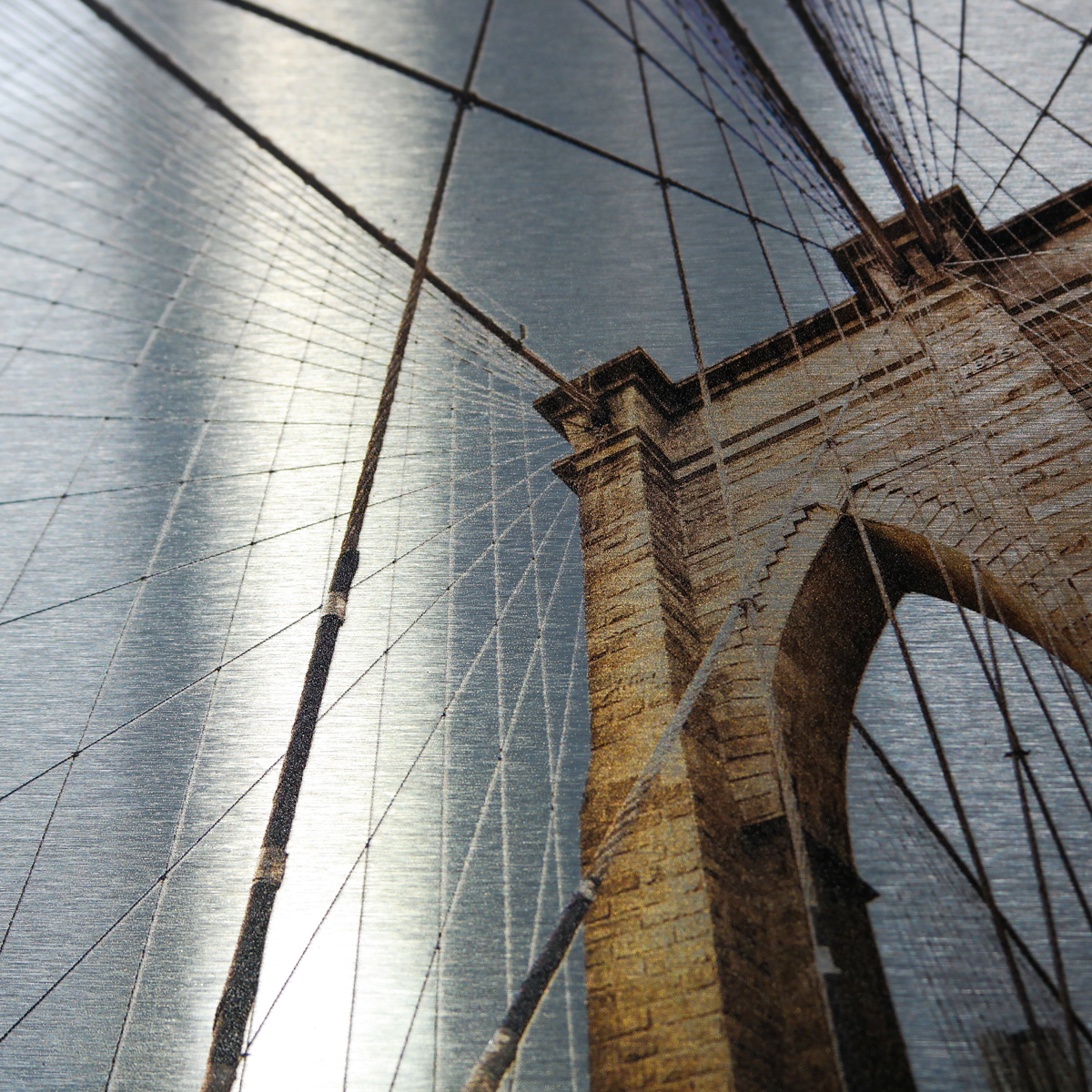 Dibond metal print bridge shows off brushed metal prints beautifully