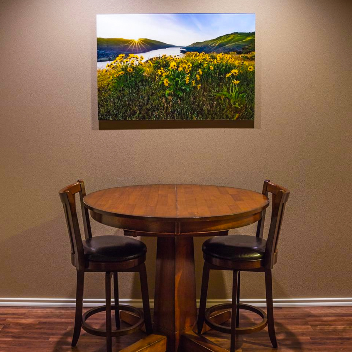 Acrylic Face Mount Print in Dining Room - Photos on Plexiglass