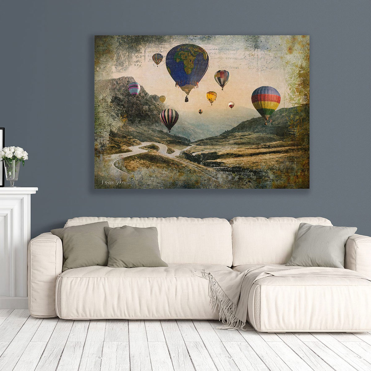 Art Boja Large Canvas Prints Wall Art Featuring Air Balloons