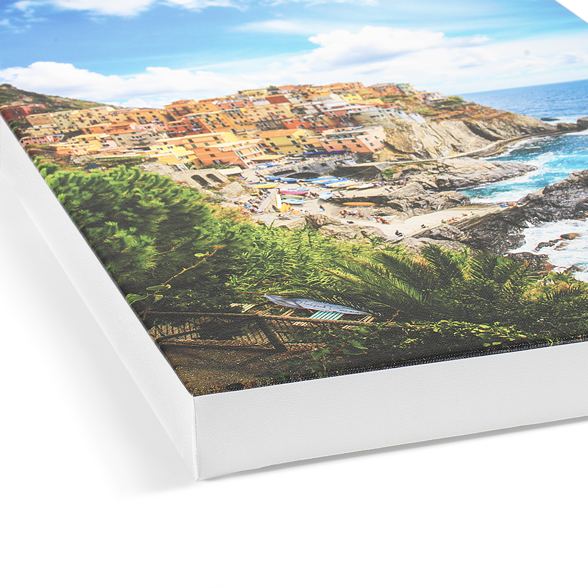 High Quality Digital Photo to Canvas Prints White Wrap