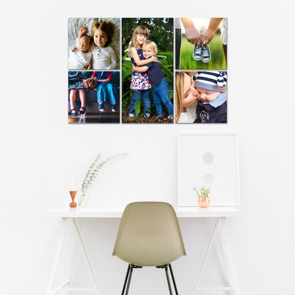 wall art gallery cluster - no standard wall art, no standard list of photo printing prices