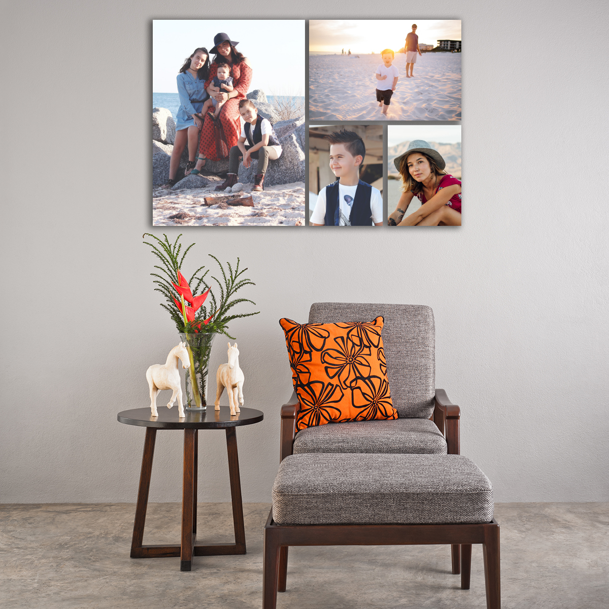 ArtisanHD Wall Art Gallery Clusters and Splits – Cluster 4 – Family Portraits Wall Art Collage