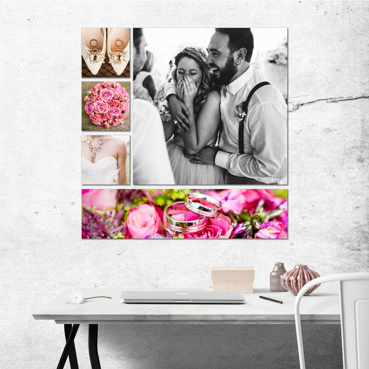 wall art gallery cluster bridal