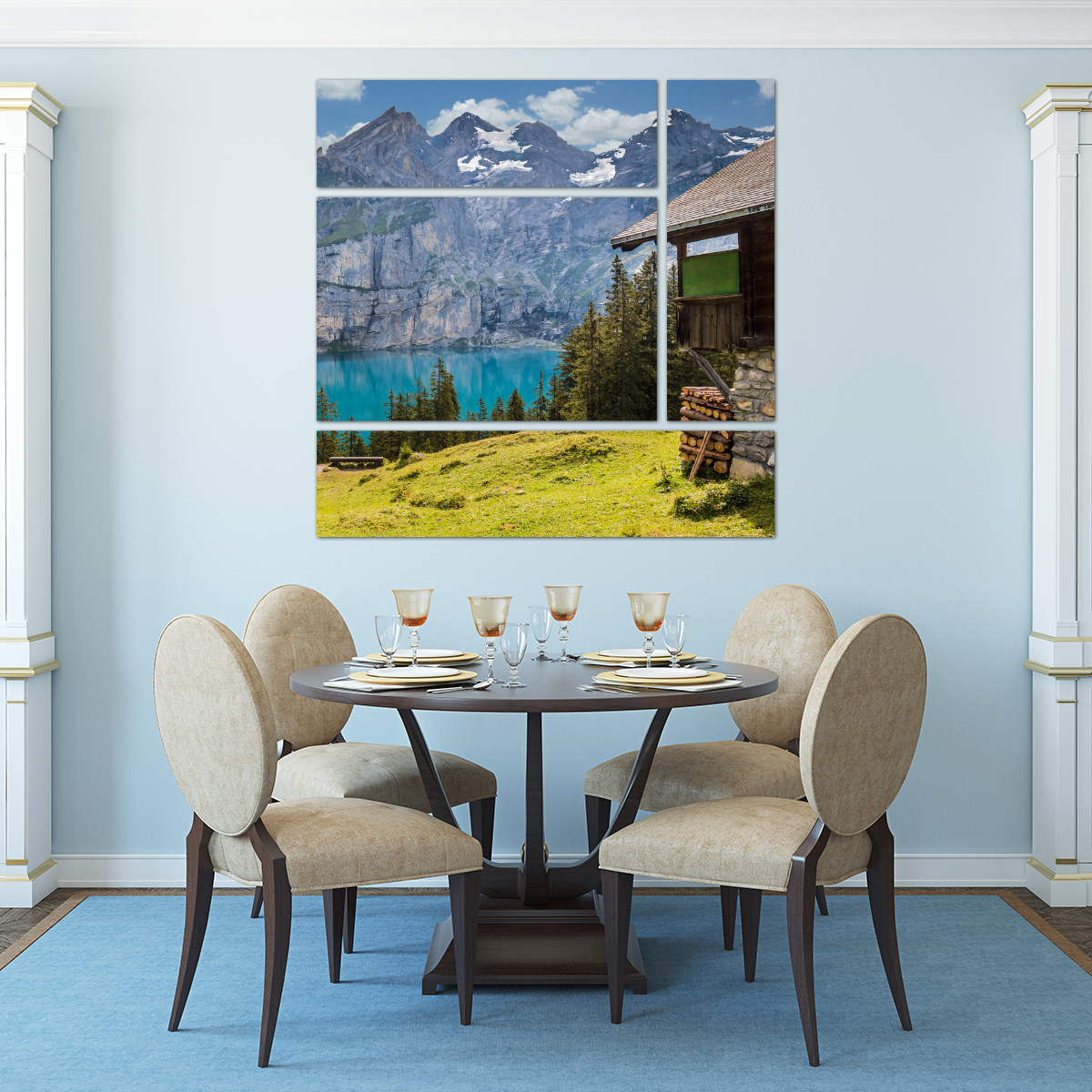 landscape split in dining room