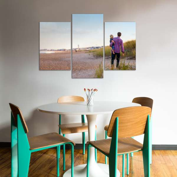 Uneven Triptych Beach Wall Art Gallery Clusters and Splits Print Product Configuration