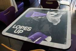 environmental graphics table wrap