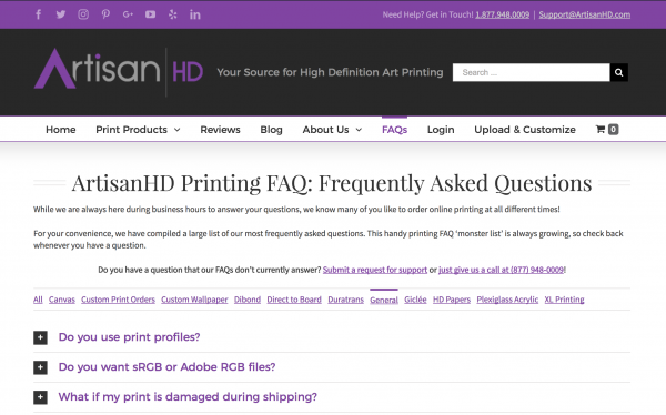 Frequently Asked Printing Questions
