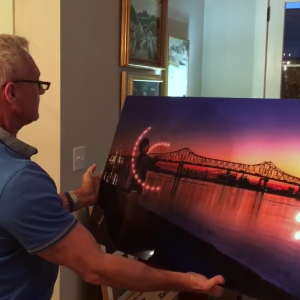 unwrapping acrylic face mounted prints