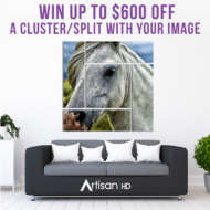 ArtisanHD Clusters and Splits Giveaway: Win up to $600 Off Your Own Cluster or Split Art Gallery