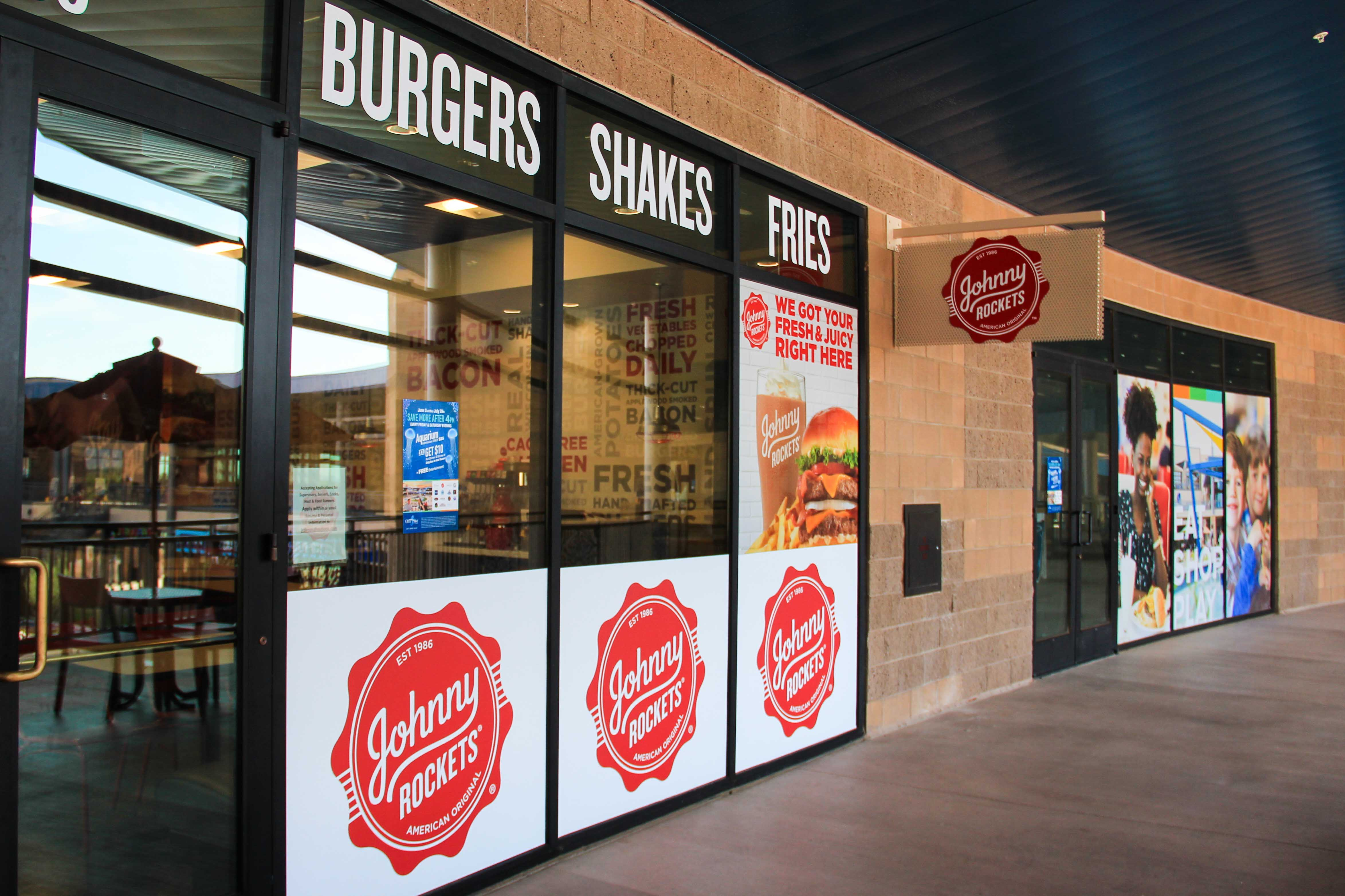 Johnny Rockets custom event signage