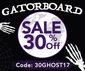 Use Promocode 30GHOST17 to Save 30% When You Print Directly to Gatorboard During ArtisanHD 's Professional Photo Printing Halloween Sale