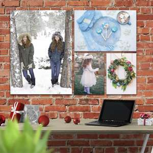 Custom Photo gifts for Christmas a Cluster example on Brich