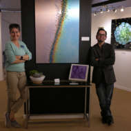 Emily and Mike at Celebration of Fine Art showing off HD Printing