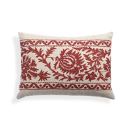 custom print decor red pillow