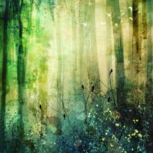 custom print decor green forest artboja