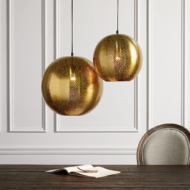 custom print decor gold globe lamp