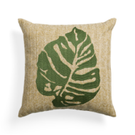 custom print decor green pillow