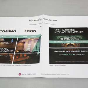 Modern Acupuncture Custom Window Wrap Design