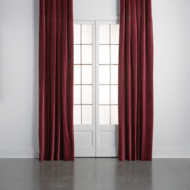 custom print decor red drapes