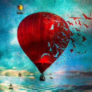 custom print decor red balloon artboja