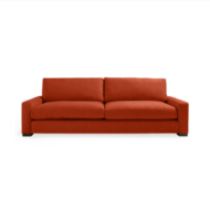 custom print decor red sofa
