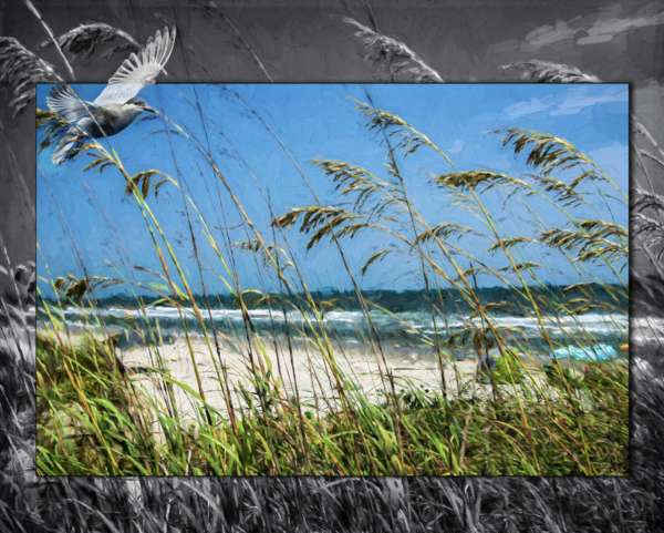 custom print decor blue sea artboja