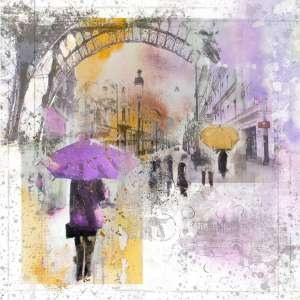 custom print decor purple umbrella artboja