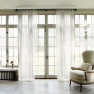 custom print decor white curtains