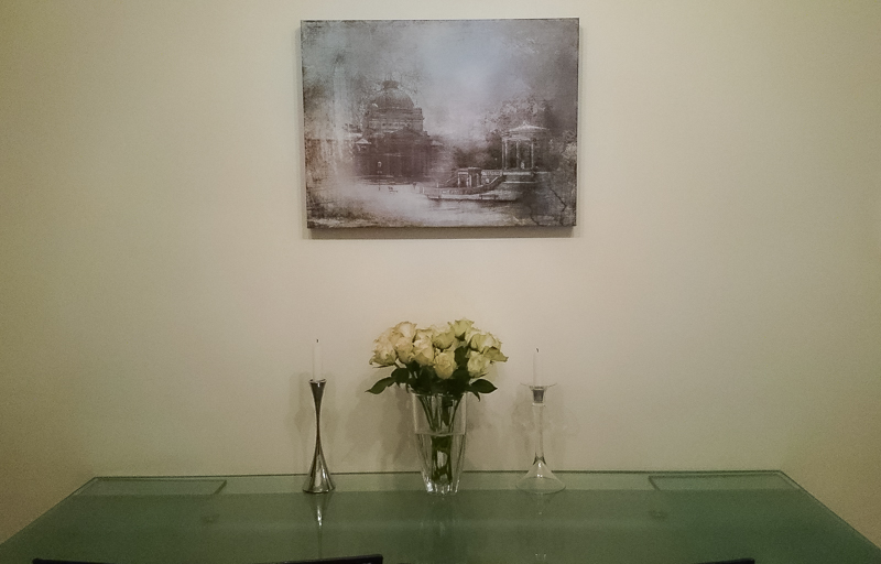 canvas fine art print in kitchen