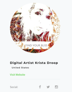 social media marketing for digital artists Krista Droop