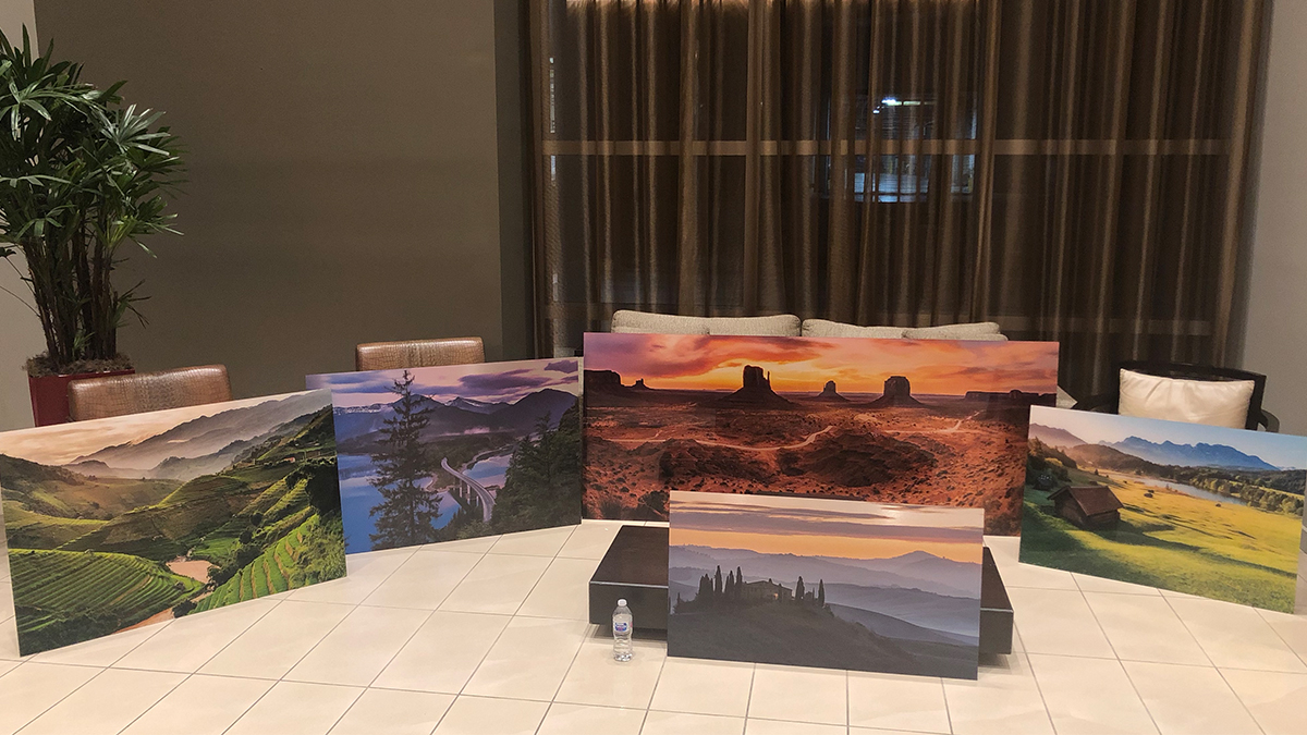travel photography prints on floor artisanhd