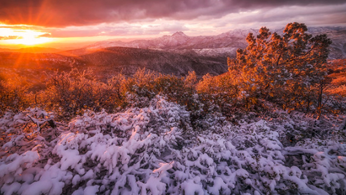 Peter Coskun ArtisanHD Print Shop Giveaway Winner Snowy Orange Sunset