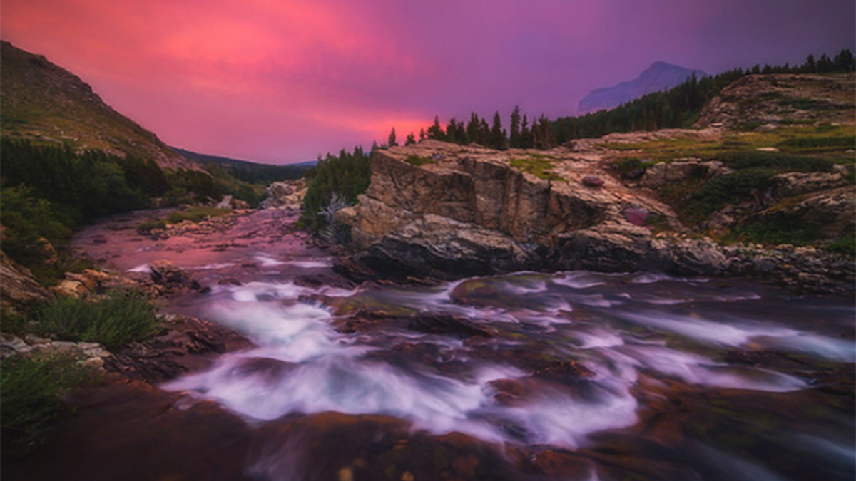 Peter Coskun Print Shop Giveaway Winner Moving Water Pink Sunset ArtisanHD