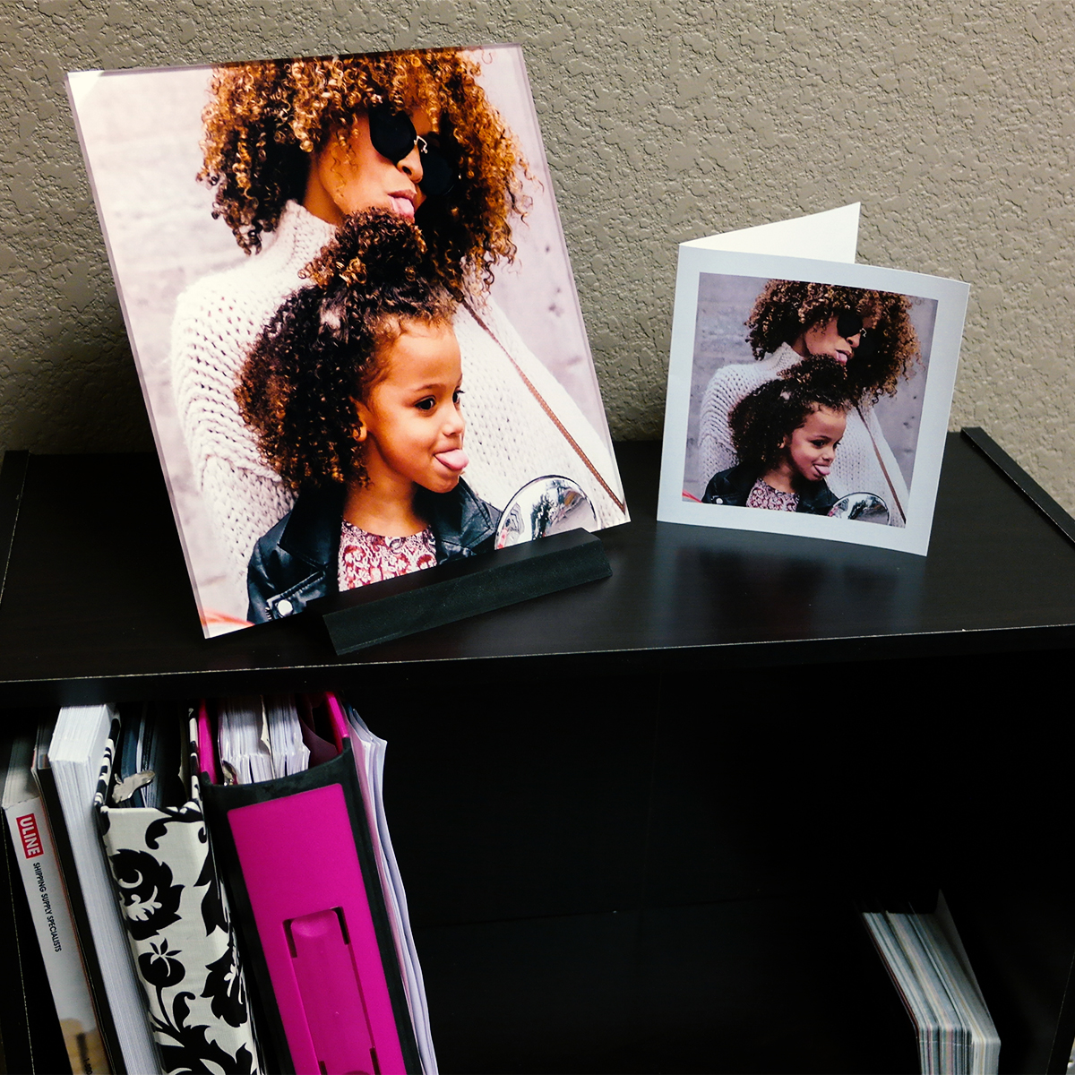 spiffysquare photo gift decor mom and daughter