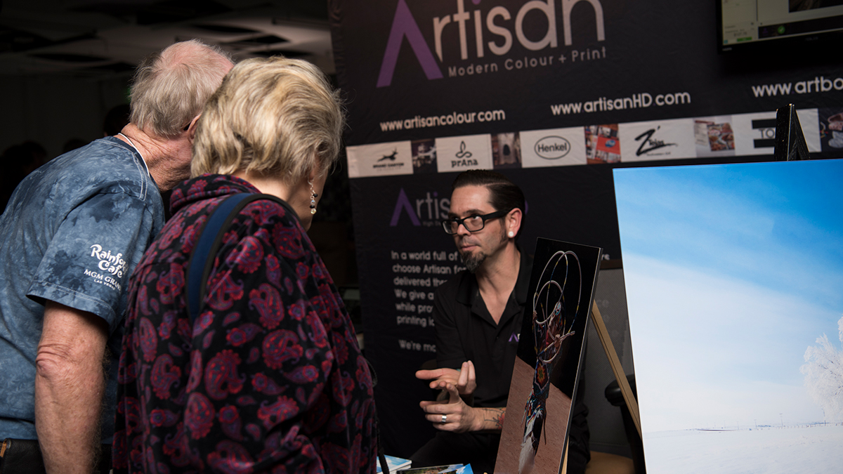 Professional Photographer ArtisanHD Booth AzPPA Event Mike With Guests