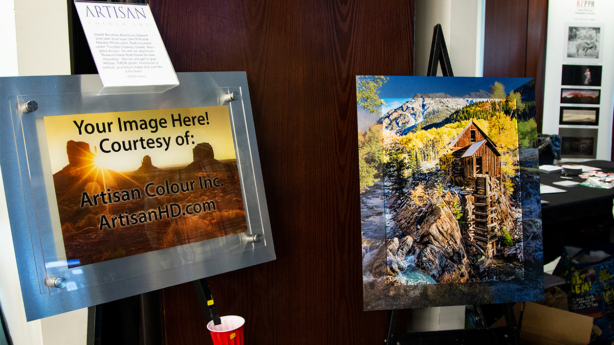 Professional Photographer AzPPA Event Raffle ArtisanHD Donation Prints