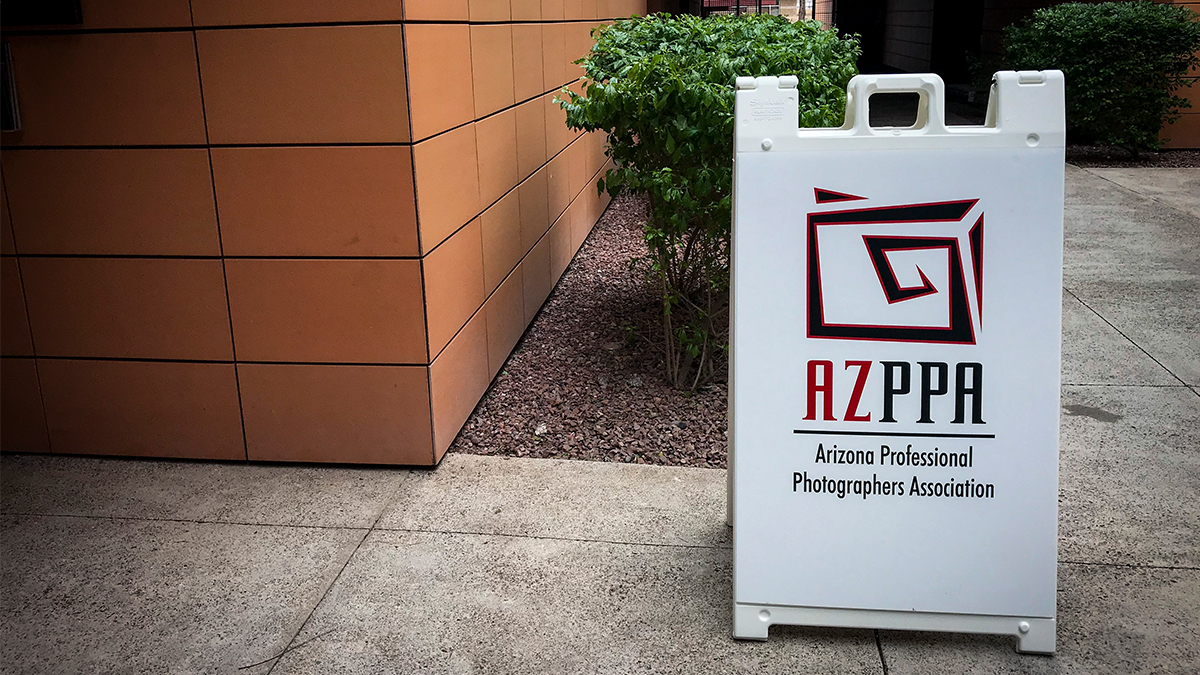 Professional Photographer AzPPA Event Sign ArtisanHD Sponsor