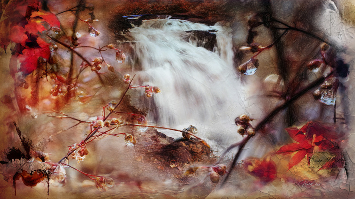 photshop world of artistry paulo crus interview red waterfall image artisanhd